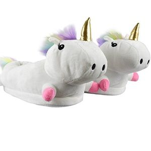 Shoes - Woman's adorable Unicorn Slippers